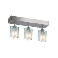 Akina 3 Light 3 inch Satin Nickel Flush Mount Ceiling Light