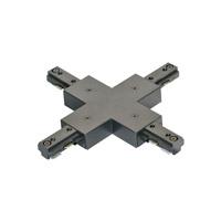 Jesco H1XP-BK H-Type Black X Connector/Feed Ceiling Light