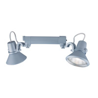 Jesco Signature 2 Light Track Lighting in Silver HHV904P30-S