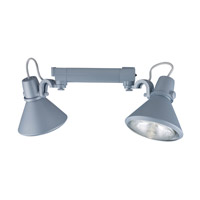 Jesco Signature 2 Light Track Lighting in Silver HHV904P38-S