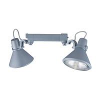 Jesco HHV904P38-S Signature 2 Light 120V Silver Track Lighting Ceiling Light