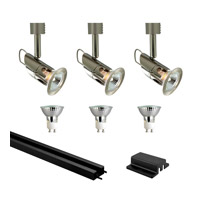Jesco Mini Deco 3 Light Track Lighting in Satin Chrome & Black KIT-3HHV127SCBK
