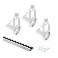 Classic 3 Light 120 White Track Lighting Ceiling Light