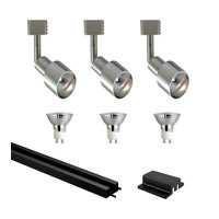 Mini Deco 3 Light 120V Satin Chrome & Black Track Lighting Ceiling Light