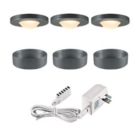 Signature 120V Halogen Brushed Aluminum Undercabinet Recessed Lighting