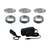 Signature 120V LED Brushed Aluminum Undercabinet Recessed Lighting