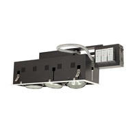 Jesco Signature 3 Light Recessed Lighting in White & Black MGRA175-3EWB