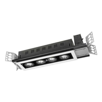 Jesco ML24-14080M-HBMB-FB LED Modulinear Black Recessed Downlight