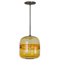 Jesco PD407-AM/BZ Envisage Vi LED 8 inch Bronze Mini Pendant Ceiling Light in Envisage Amber