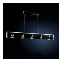 Tempo 5 Light 3 inch Black Pendant Ceiling Light