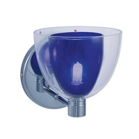 Jesco WS215-BU/CH Lina 1 Light 5 inch Chrome Wall Sconce Wall Light in Lina Blue