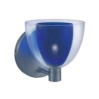 Jesco WS215-BU/SN Lina 1 Light 5 inch Satin Nickel Wall Sconce Wall Light in Lina Blue