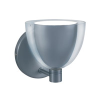 Jesco WS215-CHWH Lina 1 Light 5 inch Chrome Wall Sconce Wall Light in Lina Chrome/White