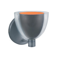 Jesco WS215-GMOR Lina 1 Light 5 inch Gun Metal Wall Sconce Wall Light in Lina Gun Metal/Orange