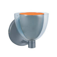 Jesco WS215-SNOR Lina 1 Light 5 inch Satin Nickel Wall Sconce Wall Light in Lina Satin Nickel/Orange