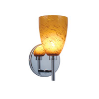 Jesco WS220-AR/CH Goblet 1 Light 5 inch Chrome Wall Sconce Wall Light in Goblet Amaretto