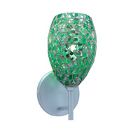 Jesco WS232-EM/CH Moz 1 Light 5 inch Chrome Wall Sconce Wall Light in Moz Emerald