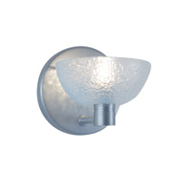 Boule 1 Light 5 inch Satin Nickel Wall Sconce Wall Light in Boule Frosted