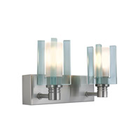 Jesco WS301-2 Akina 2 Light 9 inch Satin Nickel Wall Sconce Wall Light