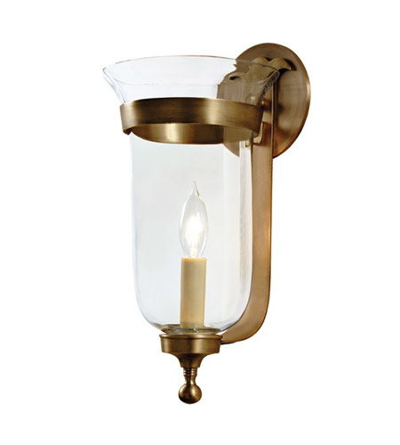 JVI Designs Bell Jar 1 Light Small Bell Wall Sconce in Rubbed Brass with Clear Glass 1001-10 photo