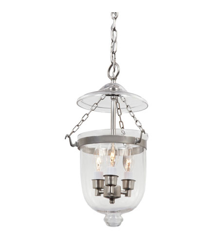 JVI Designs 1008-17 Hundi 3 Light 9 inch Pewter Bell Jar Pendant Ceiling Light photo