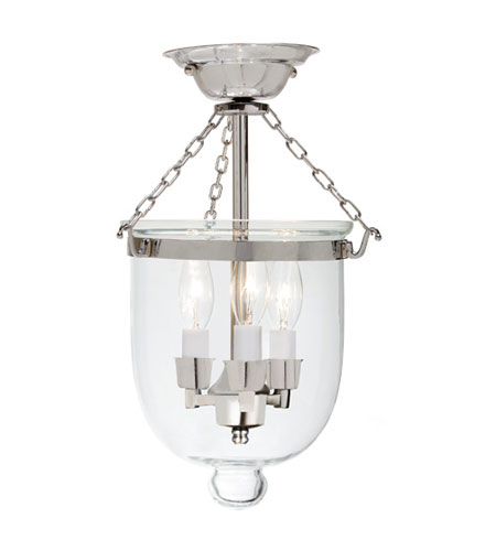 JVI Designs 1015-15 Hundi 3 Light 9 inch Polished Nickel Semi-Flush Mount Ceiling Light photo
