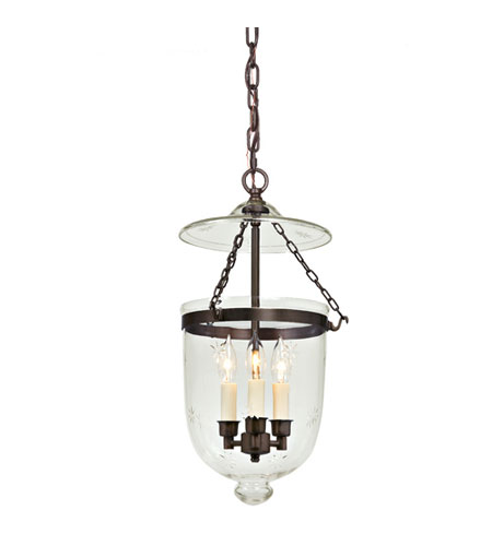 JVI Designs 1021-08 Bell Jar 3 Light 11 inch Oil Rubbed Bronze Hanging Bell Pendant Ceiling Light photo