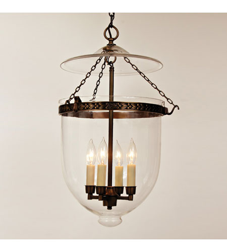 Jvi Designs Bell Jar 4 Light Extra Large Hanging Pendant In Oil Rubbed Bronze With Clear Gl 1027 08