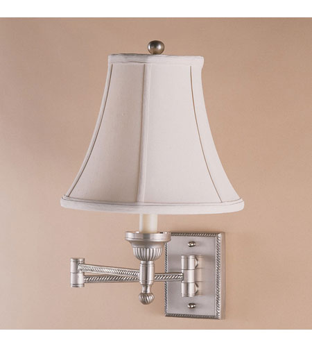 JVI Designs Beaded 1 Light Swing Arm Sconce in Pewter 106-17 photo