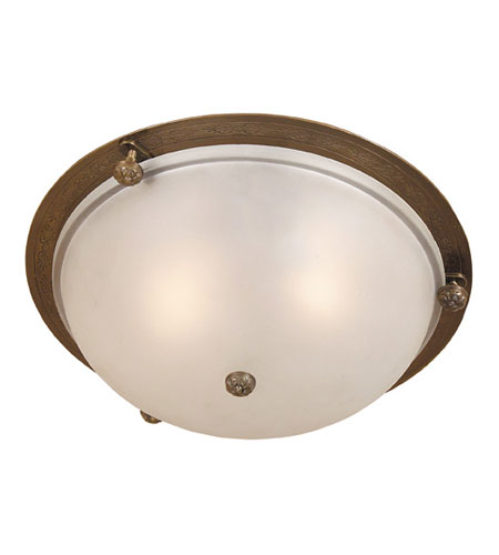 JVI Designs 1060-08 Traditional Brass 2 Light 11 inch Oil Rubbed Bronze Flush Mount Ceiling Light photo