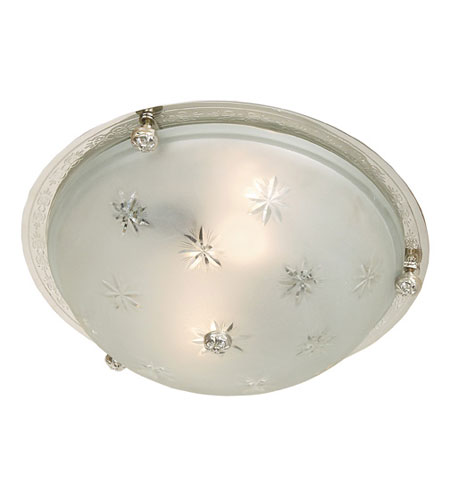 JVI Designs Classic 3 Light Large Flush Mount in Polished Nickel 1063-15 photo