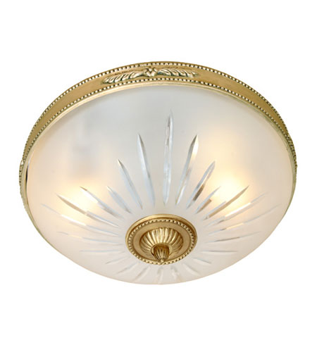 JVI Designs 1065-10 Rope and Arrow 2 Light 10 inch Rubbed Brass Flush Mount Ceiling Light photo
