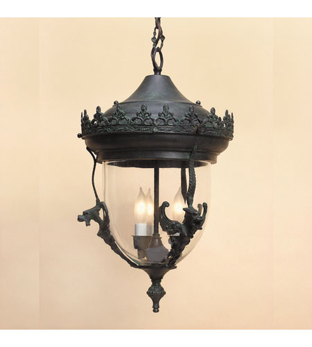 JVI Designs 1105-25 Gryphon 2 Light 10 inch Verde Outdoor Ceiling Mount  photo