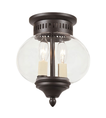 JVI Designs 1170-08 Classic Onions 2 Light 8 inch Oil Rubbed Bronze Flush Mount Ceiling Light photo