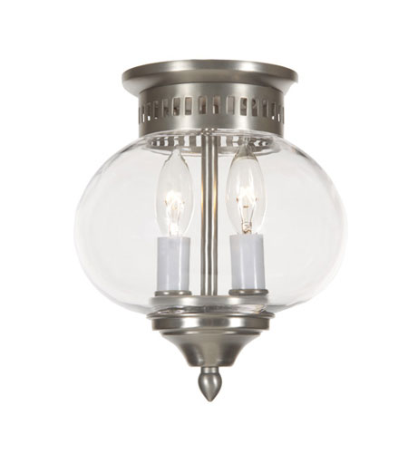 JVI Designs 1170-17 Classic Onions 2 Light 8 inch Pewter Flush Mount Ceiling Light photo