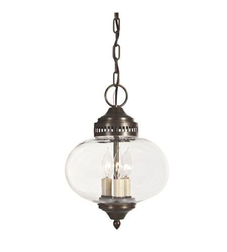 JVI Designs Classic Onions 3 Light Hanging Bell Pendant in Weathered Bronze 1175-02 photo