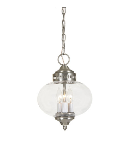JVI Designs Classic Onions 3 Light Hanging Bell Pendant in Pewter 1175-17 photo