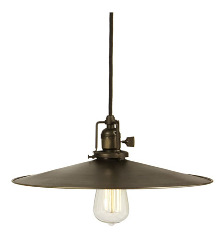 JVI Designs Union Square 1 Light Mini Pendant in Weathered Bronze 1200-02-M5 photo