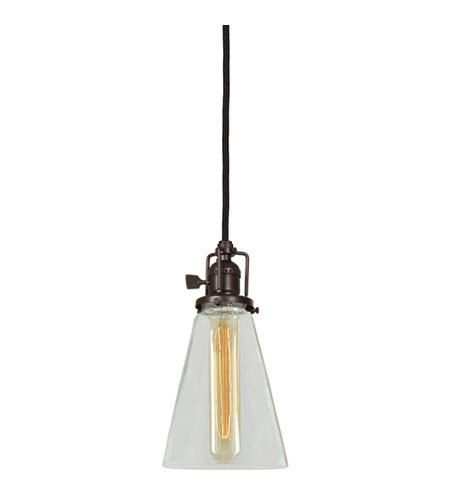 JVI Designs Union Square 1 Light Mini Pendant in Weathered Bronze 1200-02-S10 photo