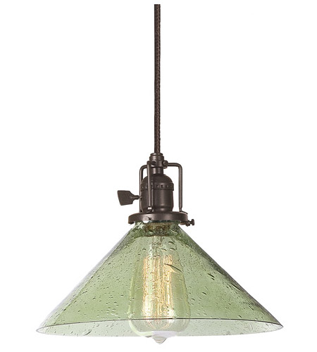 JVI Designs 1201-08-S2-LB Union Square 1 Light 10 inch Oil Rubbed Bronze Pendant Ceiling Light in Lime Seeded, S2 photo