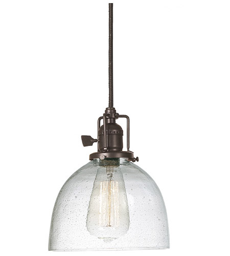 JVI Designs 1200-08-S5-CB Union Square 1 Light 7 inch Oil Rubbed Bronze Pendant Ceiling Light in Seeded, S5 photo
