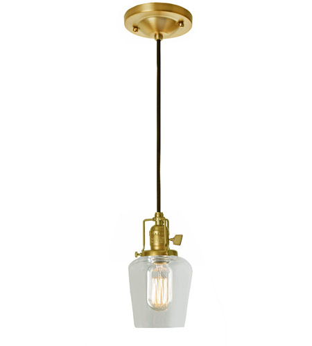 JVI Designs 1200-10-S9 Union Square Liberty 1 Light 5 inch Satin Brass Pendant Ceiling Light photo