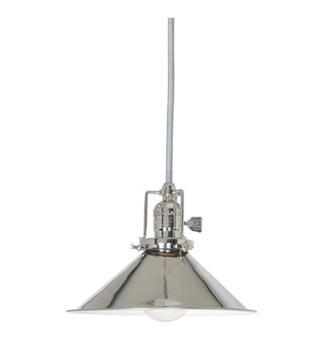JVI Designs 1201-15-M3 Union Square 1 Light 8 inch Polished Nickel Pendant Ceiling Light photo
