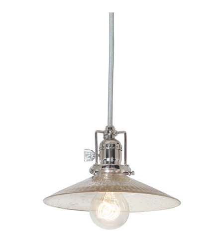JVI Designs 1200-15-S1-SR Union Square 1 Light 8 inch Polished Nickel Pendant Ceiling Light photo
