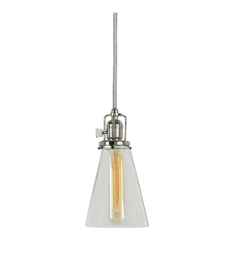 JVI Designs 1200-15-S10 Union Square 1 Light 5 inch Polished Nickel Pendant Ceiling Light photo