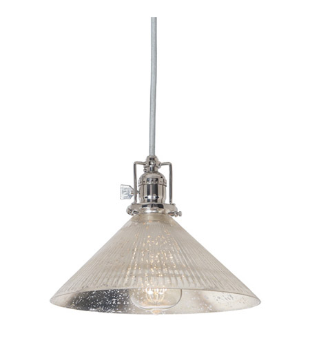 JVI Designs 1200-15-S2-SR Union Square 1 Light 10 inch Polished Nickel Pendant Ceiling Light photo