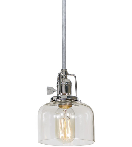 JVI Designs 1200-15-S4 Union Square 1 Light 5 inch Polished Nickel Pendant Ceiling Light photo
