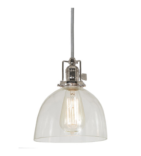 JVI Designs 1201-15-S5 Union Square 1 Light 7 inch Polished Nickel Pendant Ceiling Light photo