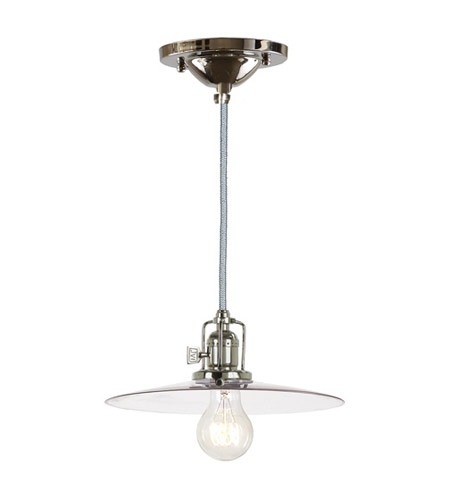 JVI Designs 1200-15-S6 Union Square 1 Light 10 inch Polished Nickel Pendant Ceiling Light photo