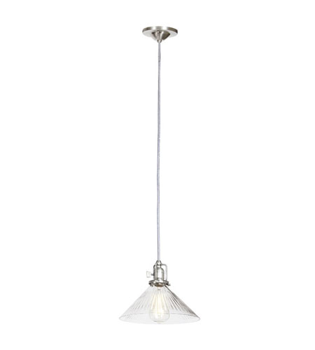 JVI Designs Union Square 1 Light Mini Pendant in Pewter 1200-17-S2-CR photo